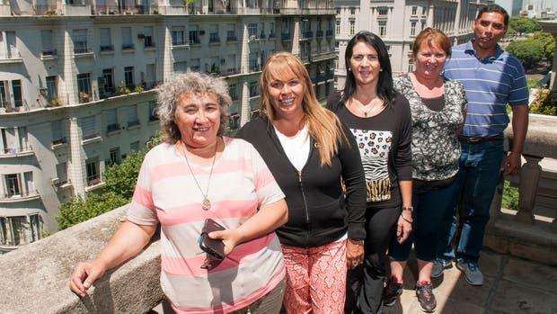 Cecilia Funes, Alejandra Vivar, Mercedes Ragne, Claudia Aguirre y Fernando Cruz Cano, de visita en Buenos Aires por una capacitacón