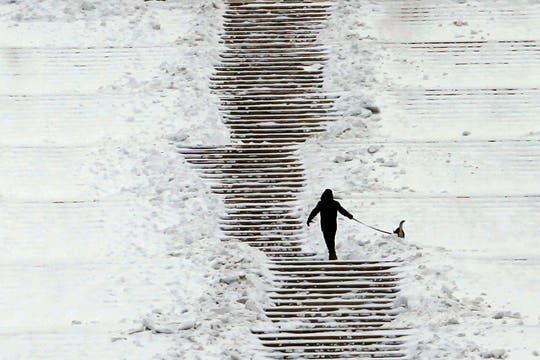 Europa vive una ola de frío con muchas tormentas y acumulación de nieve. Foto: Reuters