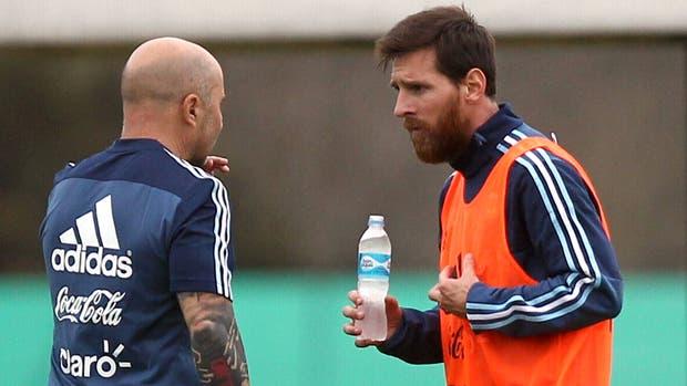 Sampaoli y el rumor de una pelea con Lionel Messi