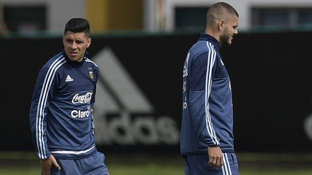 Enzo Pérez y Mauro Icardi, dos que podrían ser titulares mañana