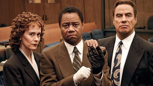 Sarah Paulson, Cuba Gooding Jr. y John Travolta en Todos contra OJ Simpson