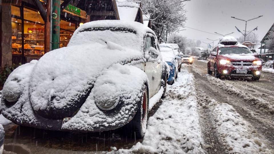 Las nevadas en los 7 Lagos. Foto: LA NACION / Julián Bongiovanni