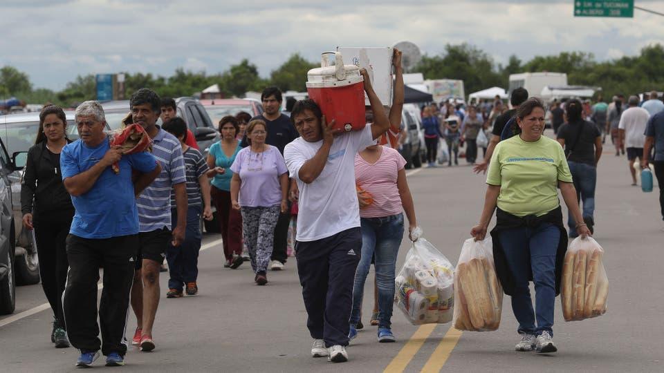 La localidad quedó sumergida en un 80%. Foto: LA NACION / Fernando Font