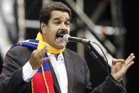 Maduro encabezó ayer un acto con agrupaciones kirchneristas