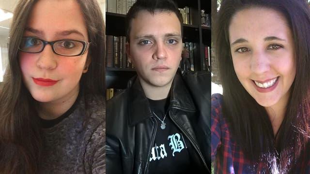 De izq. a der.: Micaela, Martín y Mariel