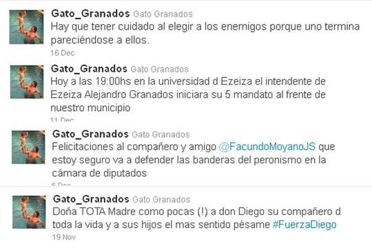 Gastón tiene un perfil en Twitter bastante activo. Foto: Twitter @Gato_Granados