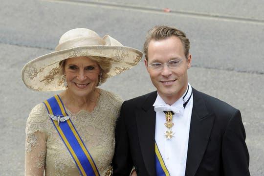 La princesa Margriet de Holanda y el profesor Pieter van Vollenhoven. Foto: Reuters