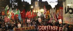 Organizaciones políticas, estudiantiles y de derechos humanos apoyaron la protesta de las comunidades cordilleranas