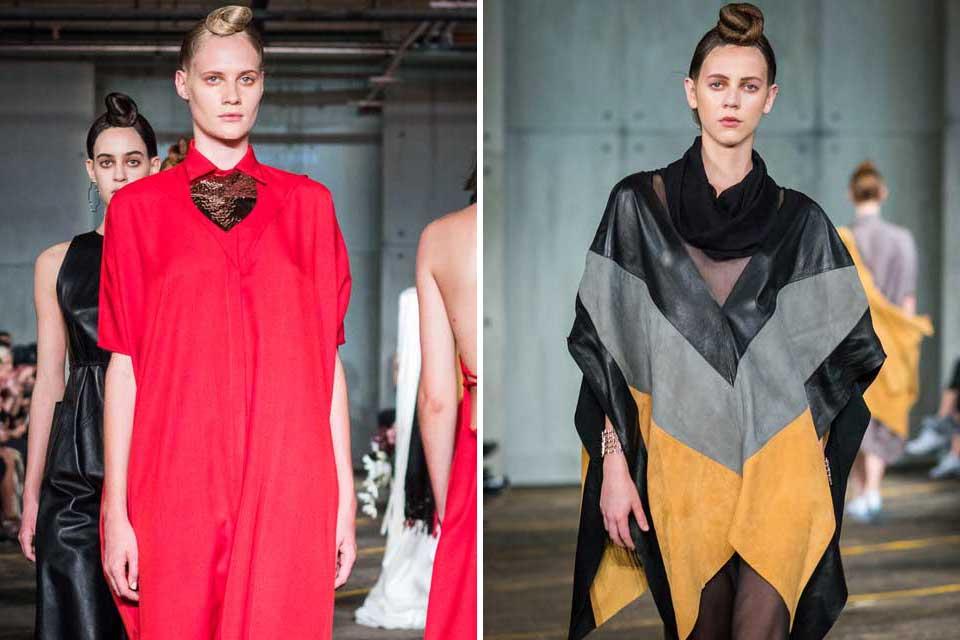 Cynthia Buttenklepper ser muy minimalista es su esencia. Sin embargo, no se olvidó del color y jugó con él y la simetría de las prendas. Foto: gentileza Prensa