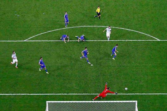 Messi, un golazo en el primer partido de la Argentina. Foto: Reuters