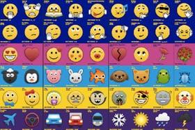 Parte del listado completo de emojis que tiene BlackBerry en su sistema de mensajería instantánea móvil BBM