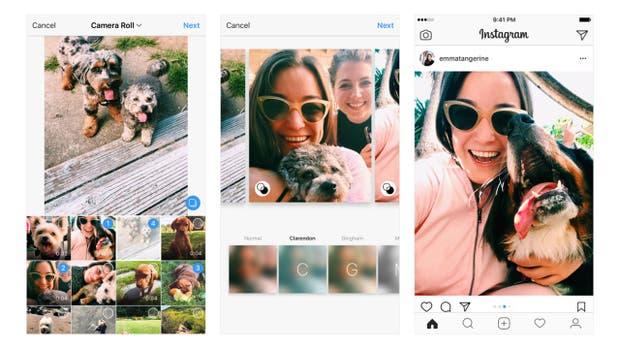 Los nuevos álbums de fotos con Instagram admiten nuevas orientaciones en las imágenes
