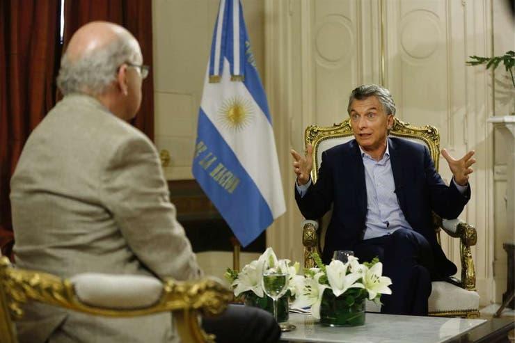 El presidente Mauricio Macri recibió ayer a LN+ en la Casa Rosada