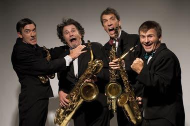 Un cuarteto de saxofonistas que transforma un concierto en un juego