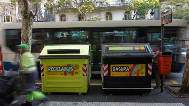 Contenedores de basura. Foto: Archivo / Rodrigo Nespolo