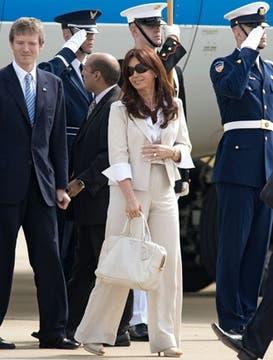 Cristina Kirchner inició el 18 de septiembre una gira por los Estados Unidos que culminó en la reunión del G-20, para luego partir a la Isla Margarita.. Foto: EFE