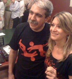 Aníbal Fernández, en un encuentro de bloggeros K