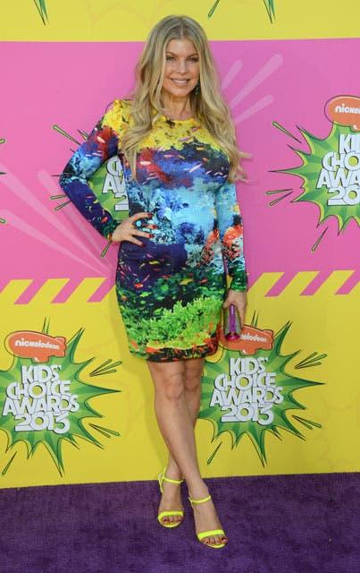 Una embarazada Fergie dijo presente en los premios.. Foto: /AP
