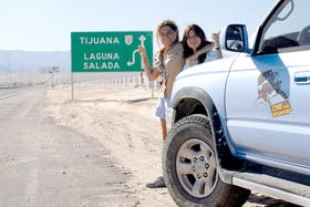 Griselda Moreno y Viviana García, en la ruta