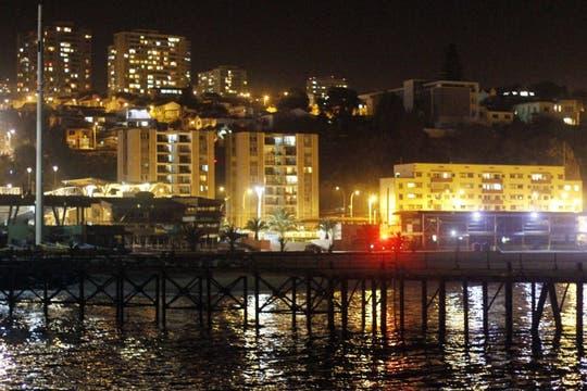 Tras zona costera de la ciudad de Valparaiso tras ser evacuada durante la alerta de tsunami. Foto: EFE