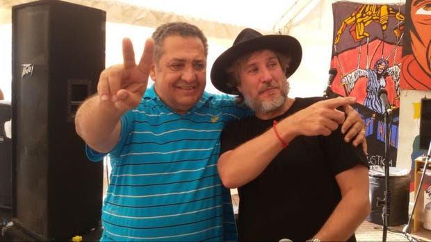 Boudou, con D'Elía, en el acampe en Plaza de Mayo por la liberación de Milagro Sala