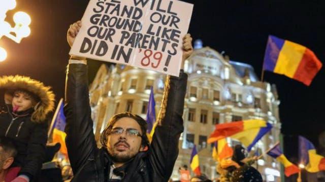 Las de la última semana son las mayores protestas en Rumania desde la caída del comunismo en 1989