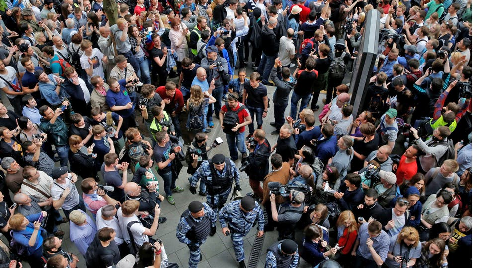 Las protestas son contra el gobierno de Putin. Foto: Reuters