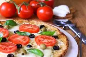 Hacé esta pizza con sólo 3 cucharadas de harina integral