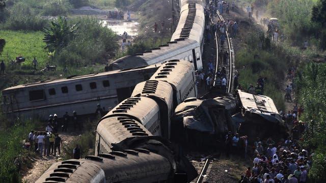 El choque ocurrió ayer en el camino entre El Cairo y Alejandría