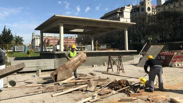 La nueva base donde se instalará la escultura