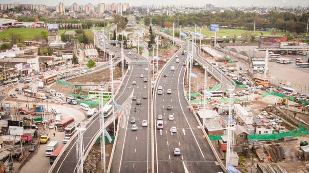 Una vista aérea del viaducto