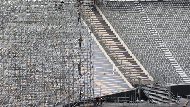 El armado del recital de Coldplay, en el Estadio Único de La Plata