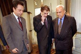 Terragno, Storani y Mestre, tras el anuncio oficial en la Casa de Gobierno
