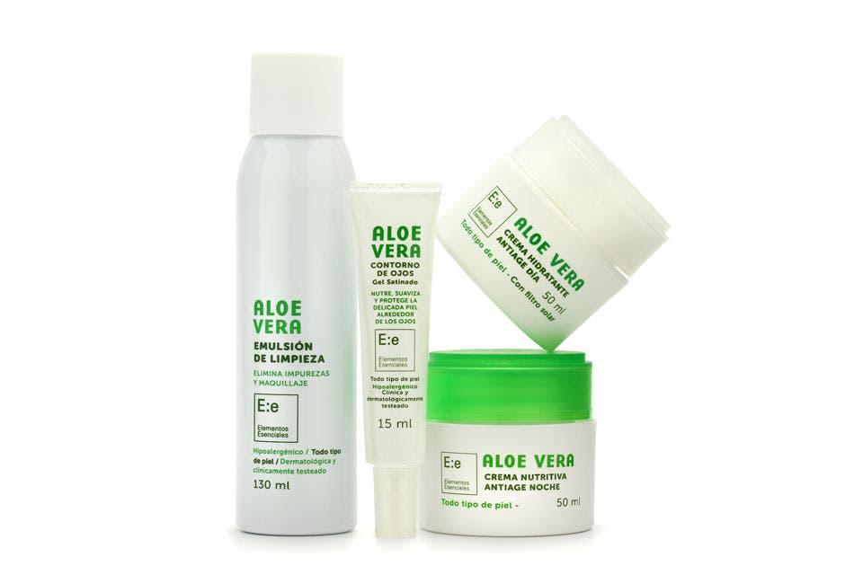 Emulsión de limpieza+ Contorno de ojos+ crema antihidratante+ Crema nutritiva de noche Esta línea aplica las 3R de la ecología: Reducir, Reciclar y Reutilizar, (Elementos Esenciales, consultar precio).