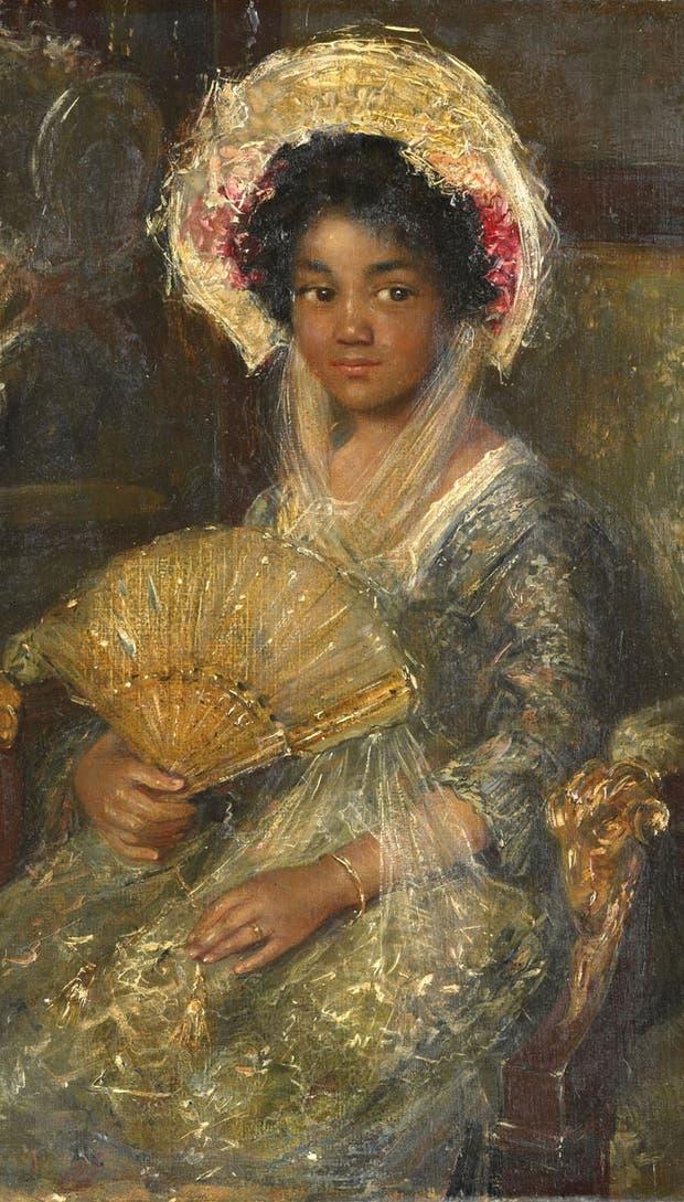 Mujer joven con abanico, de Simon Maris