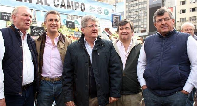 Ferrero (CRA), Etchevehere (SRA) y Marcos Giraudo (Coninagro)