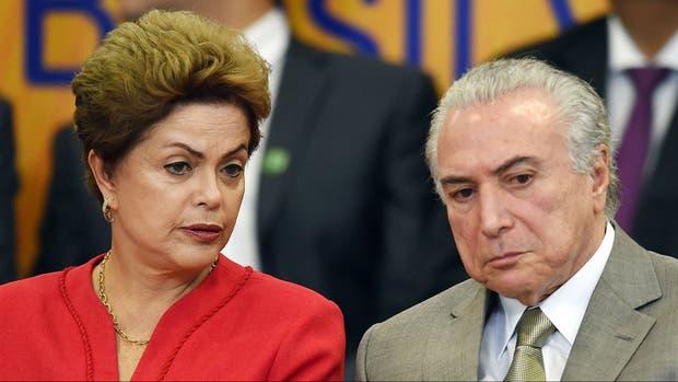 Temer hizo un repaso de las instancias en las que, de acuerdo a su visión, Dilma le restó apoyo