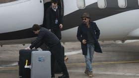 La llegada de Lavezzi a Rosario en un avión privado