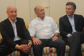 Lavagna, Venegas y Macri en el lanzamiento del partido del sindicalista