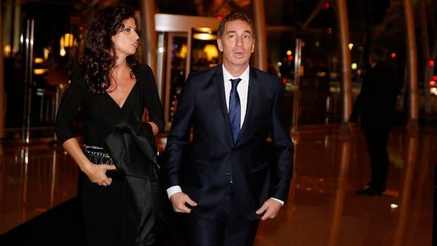 El vicejefe de Gobierno, Diego Santilli, junto a su mujer. Foto: Fabián Marelli
