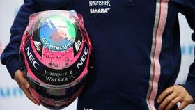 Así es el casco que usará Checo Pérez