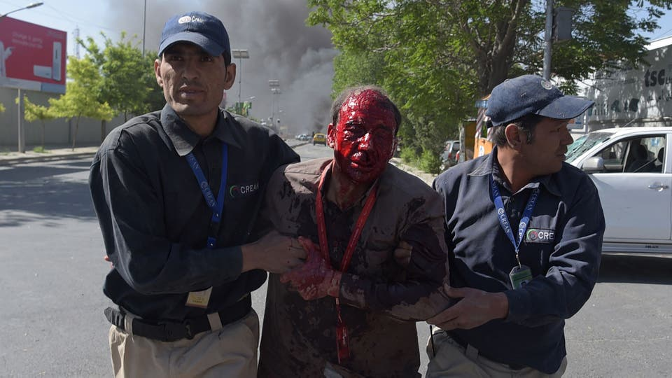 Las embajadas de Francia y China estuvieron entre las que resultaron más dañadas. Foto: AFP
