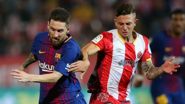Cómo es marcar a Messi: la tarde de Maffeo