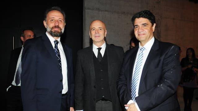 Gustavo Marangoni, Jorge Telerman y Jorge Macri. Foto: LA NACION