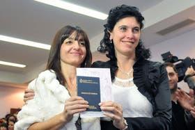 Una de las 2000 parejas que se casaron en la provincia de Buenos Aires