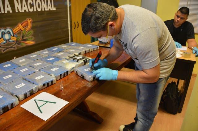 Cada paquete y valija fue etiquetado por efectivos de Gendarmería