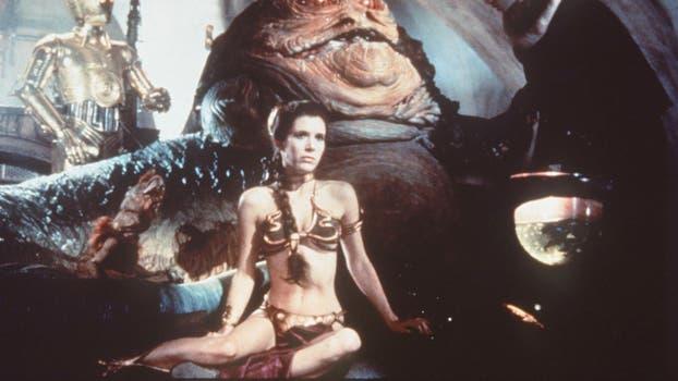 "Carrie Fisher en la Pelicula ""El Retorno del Jedi"". Foto: Archivo"