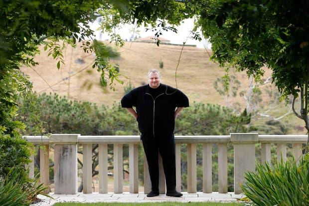 Kim Dotcom en su casa en Nueva Zelanda