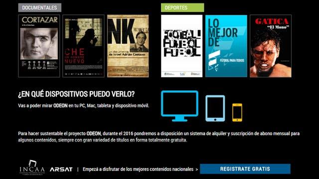 Odeón, «el Netflix criollo» que ofrece gratis 700 horas de películas y series