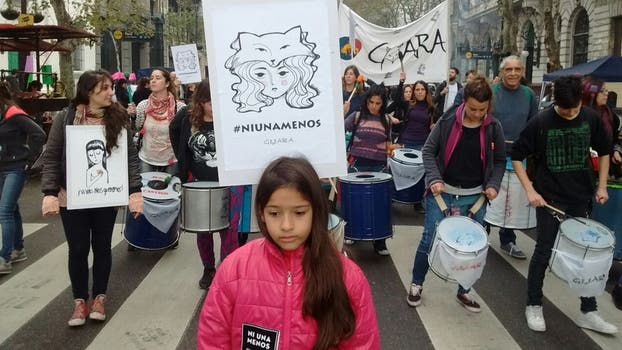 Tercera marcha contra la violencia de género en la Ciudad de Buenos Aires. Foto: LA NACION / Santiago Filipuzzi